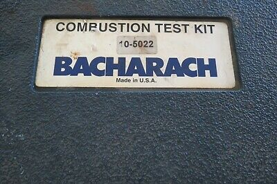 BACHARACH 10-5022 Combustion Analyzer Kit Test Kit Oil Never Out of Box