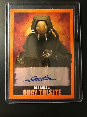 Topps Star Wars Dee Tails Orange Auto 16/25 Solo Story Quay Tolsite