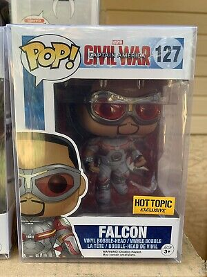 FUNKO POP! Falcon Captain America Civil War Avengers *NEW *Vaulted *Hot Topic