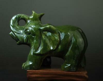 china old hand-made south natural jade water absorption elephant statue 01 b02