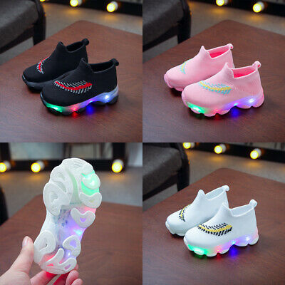 LED Light Up Baby Kids Boys Girls Luminous Sneakers Children Casual Sports Shoes