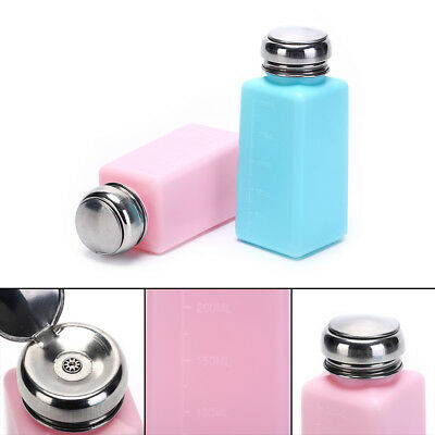 Pump Dispenser Bottle Container Cleaner Cleaning Nail Polish Remover 250mL ax