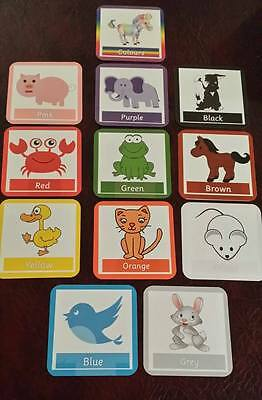 Baby FIRST LEARNING COLOURS & ANIMALS - FLASH CARDS - VISUALLY EYECATCHING