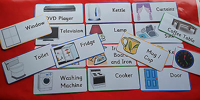 Indoor / Household Objects - 30 Flash Cards - Special Needs / Early Learning