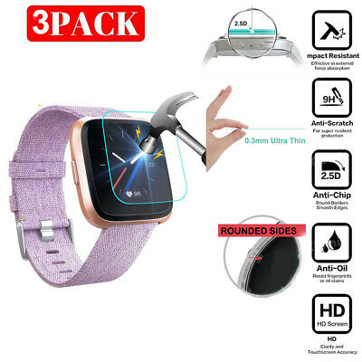 3X For Fitbit Versa Lite Tempered Glass Screen Protector For Fitbit Versa Lite