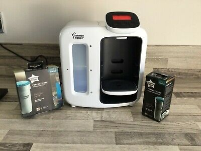 Tommee Tippee Perfect Prep Machine Day And Night White With 3 New Boxed Filters