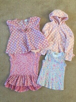 girls next Bundle Pink Floral 4 x Tops/ Hoodie Age 4- 5