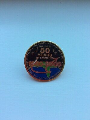 NASA PIN 1st FIFTY YEARS of LAUNCHES /'50 /'00 USAF Cape Canaveral Kennedy Space
