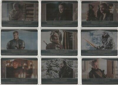 Game of Thrones Season 7 Trading Cards - Valyrian Steel Expansion Set (101-109)
