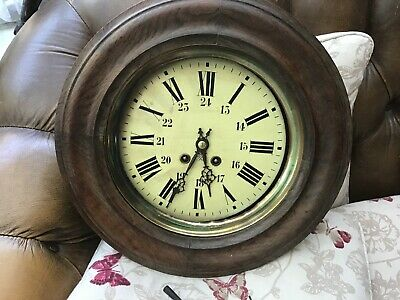 19TH CENTURY FRENCH  Stamped JAPY FRERES WALL CLOCK
