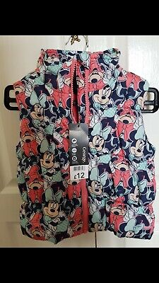 BNWT DISNEY GIRLS GILET MINNIE MOUSE age 2-3 yrs 92cms from George was £12 new