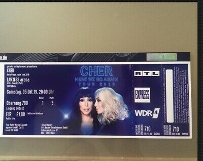 Cher He We Go Again Tour Cologne 1 Ticket