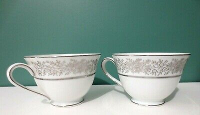 NEW Rare Set of Two FINE SEYEI CHINA - JAPAN Footed Tea Cups - Brilliant Pattern
