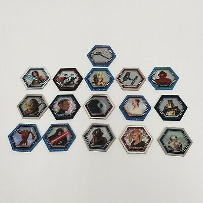 LOT 16 Topps Star Wars Galactic Connexions Trading Discs Holo Foil Jedi Sith