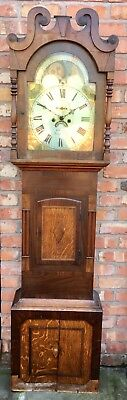 Antique Oak Mahogany Longcase Grandfather Clock MOON PHASE Kennedy  Macclesfield