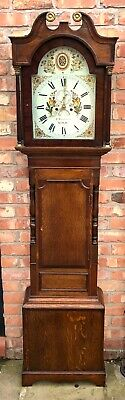 Antique Oak Mahogany 8 Day Longcase Grandfather Clock WINSTANLEY MOLD