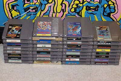 34 NES Games / Mario / Nightmare On Elm Street / Zelda / SuperC / Metroid / TMNT