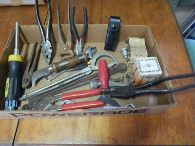 Large Lot of Older Hand Tools, Nippers, Pliers, Crescent, IMCO +