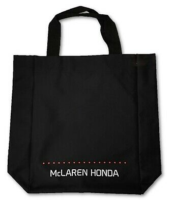 "BAG Tote Shopping Carrier Formula One 1 Team McLaren Honda F1 Black 16""x13"" CA"