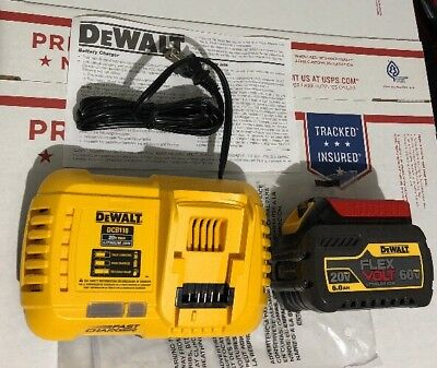 Dewalt Dcb606 Flexvolt 20V-60V 6.0Ah Battery /dcb118 Fast Charger 2019 New