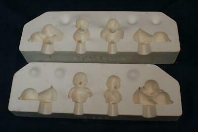 Vintage 1992 Riverview Greenware Slip Casting Ceramic Mold #666 Ducklings