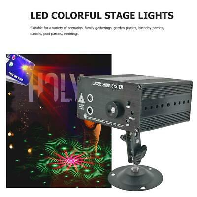 3-holes 48 Pattern LED RGB Stage Light Lighting DMX Disco DJ Party KTV Projector