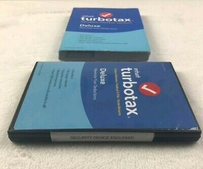 Intuit Turbotax Deluxe 2018 Federal + State Tax Software Windows / Mac Disc NIB