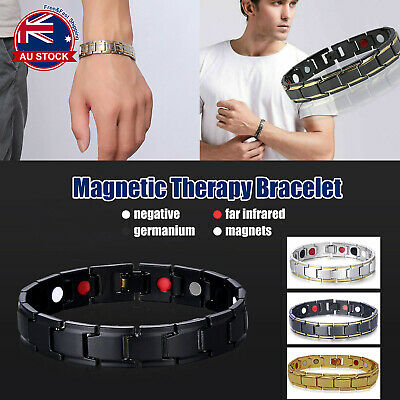 Mens Womens Magnetic Therapy Bracelet Health Care Energy Therapy Infrared A