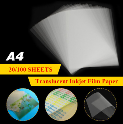 A4 Waterproof Screen Printing Inkjet Translucent Film Paper Stencil Design Sheet