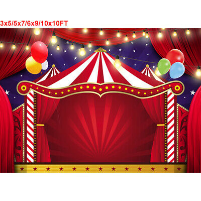 Circus Tent Backdrop Carnival Balloon Lighting Birthday Party Wedding Background