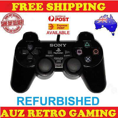 GENUINE Black Original Dual Shock Controller Control For PlayStation 2 PS2