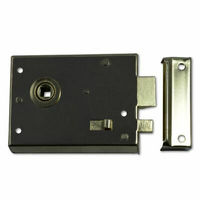 Asec Rim Latch And Snib Easy To Install Polished Brass Gate Shed Door Lock 100mm