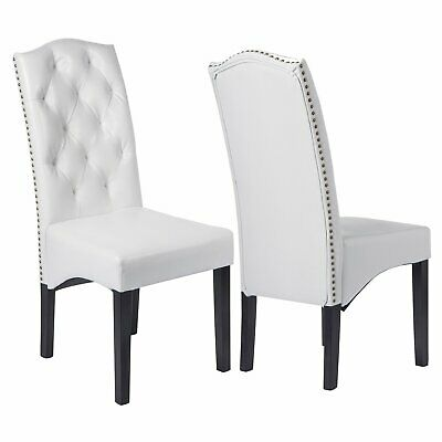 """Dining PU Chair with Solid Wood Legs, 18.11"""" L x 24.01"""" W x 40.95"""" H"""