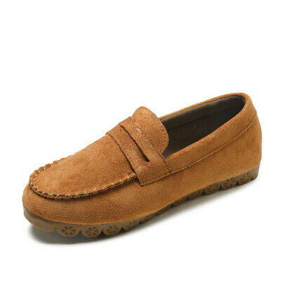 Women Suede Slip On Soft Loafers Lazy Casual Flat Shoes Outdoor Moccasins Retro