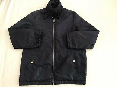 Vintage C&A Navy Zipped & Two Pocket Lightweight Nylon Jacket Size 10 Fab Item