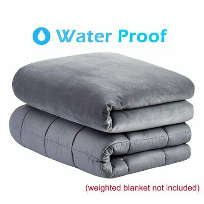 Deluxe Weighted Blanket Duvet Cover 60''x80'' 48''x72'' Reduce Stress Deep Sleep