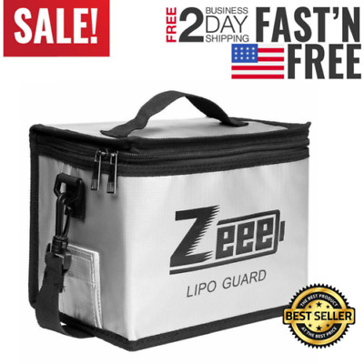 Zeee Lipo Battery Fireproof Explosionproof Bag Large Capacity Storage Guard Safe