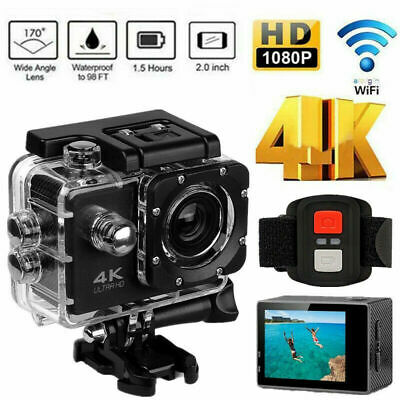 Ultra 4K Full HD 12MP Video Recorder Sports Camera WiFi Cam DV Action Camcorder
