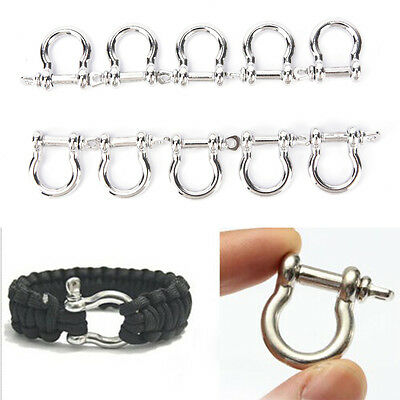 1/5/10pcs O-Shaped Stainless Steel Shackle Buckle For Paracord Bracelet、SC