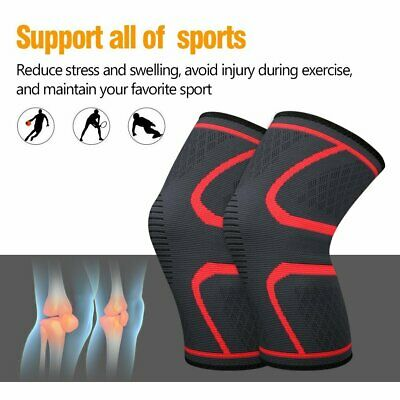 2×Knee Brace Support Compression Sleeve For Joint Pain Arthritis Relief Recovery