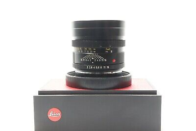 Leica Leitz 90mm F2 Summicron - R Mount Prime Lens Made in Canada -BB 206-