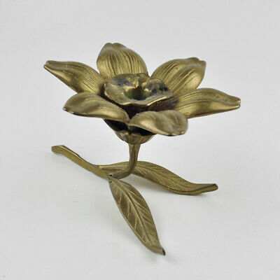 Kerzenständer - Messing - Blume - Blüte - massiv - Vintage Brass Candle Holder