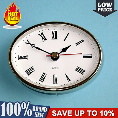 "2-1/2"" (65mm) QUARTZ CLOCK FIT-UP/Insert Gold Gold Y5Z5 Numer Trim Numeral Q4G5"