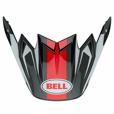 Bell Motorbike Motorcycle Replacement Moto 9 Flex Peak Vice Black / White