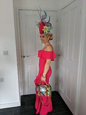 Large Ladies Day Fascinator Hat Races - Hummingbird couture one off design