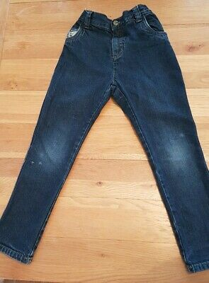 Boys dark blue denim jeans see all photos.Adjustable waist & pockets age 5-6 TU