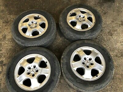 MERCEDES-BENZ ML W163 USED 4x ALLOY WHEELS WITH TYRES 255/60R17 255 60 R17 M+S
