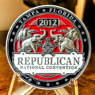"Official ~  "" 2012 RNC SECRET SERVICE PROTECTION ""  ~  2012 Challenge Coin"