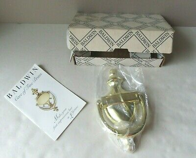 Baldwin Colonial Lifetime Polished Brass Door Knocker New Old Stock with Box
