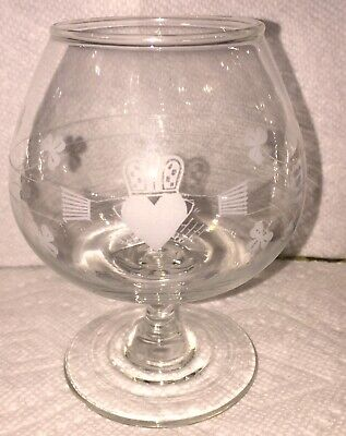 """GALWAY CRYSTAL """"Claddagh"""" Brandy Snifter Set Of Four. Ireland."""